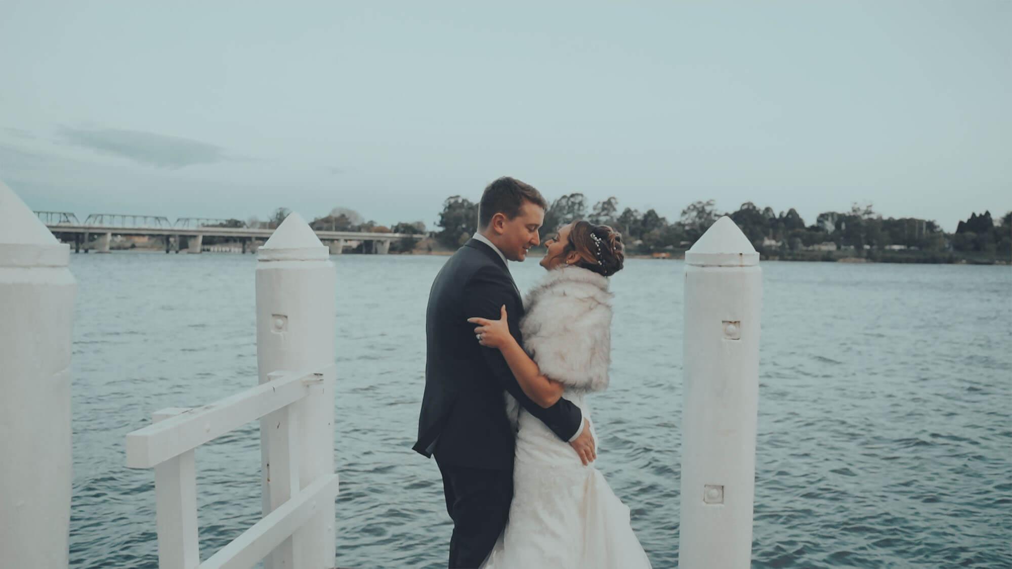 Best wedding videographer films Shoalhaven River Wedding