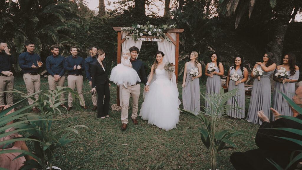 Wedding Ceremony at Glastonbury Garden in Austinme